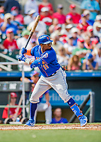 28 February 2019: New York Mets outfielder Rajai Davis at bat in the 5th inning of a Spring Training game against the St. Louis Cardinals at Roger Dean Stadium in Jupiter, Florida. The Mets defeated the Cardinals 3-2 in Grapefruit League play. Mandatory Credit: Ed Wolfstein Photo *** RAW (NEF) Image File Available ***