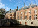 Rear Facade of Town Hall Stadhuis enclosing Blinde-Ezelstraat Blind Donkey Street, Blinde-Ezelbrug Blind Donkey Bridge, Bruges, Brugge, Belgium