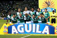 PALMASECA-COLOMBIA, 19-07-2017.  Formación  del Deportivo Cali  durante el encuentro contra el Once Caldas , encuentro  por la fecha 3 de la Liga Aguila II 2017 disputado en el estadio del Deportivo Cali en Palmaseca./ Team  of Deportivo Cali  during match agaisnt  of Once Caldas  during match for the date 3 of the Aguila League II 2017 played at Deportivo Cali  stadium in Palmaseca. Photo:VizzorImage / Nelson Rios  / Cont