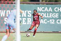 STANFORD, CA - SEPTEMBER 12: Madison Ayson during a game between Loyola Marymount University and Stanford University at Cagan Stadium on September 12, 2021 in Stanford, California.