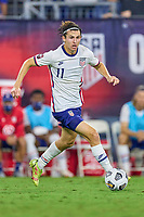 5th September 2021; Nashville, TN, USA;  United States forward Brenden Aaronson breaks on the ball during a CONCACAF World Cup qualifying match between the United States and Canada on September 5, 2021 at Nissan Stadium in Nashville, TN.