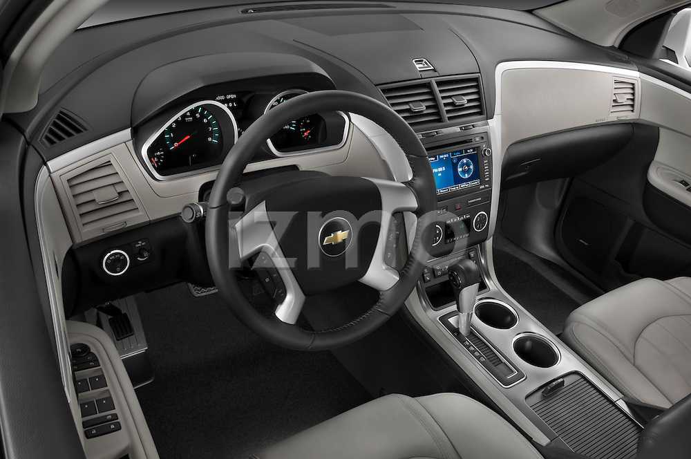 High angle dashboard view of a  2009 Chevrolet Traverse LTZ