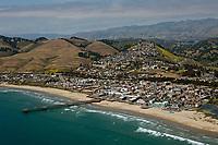 aerial photograph of the Pismo Beach Pier, San Luis Obispo County, California