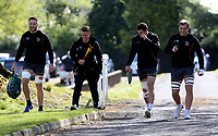 Tuesday 3rd May;  Alan O'Connor, Craig Gilroy, Jacob Stockdale and Marcus Rea<br /> Ulster Rugby Training at Perrie Park, Belfast, Northern Ireland. Photo by John Dickson/Dicksondigital<br /> Ulster Rugby Training at Perrie Park, Belfast, Northern Ireland. Photo by John Dickson/Dicksondigital