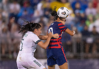 EAST HARTFORD, CT - JULY 1: Carli Lloyd #10 of the USWNT heads the ball during a game between Mexico and USWNT at Rentschler Field on July 1, 2021 in East Hartford, Connecticut.