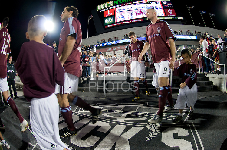 The Colorado Rapids and Real Salt Lake take the field. Real Salt Lake earned a tied versus the Colorado Rapids securing a place in the postseason. Dick's Sporting Goods Park, Denver, Colorado, October, 25, 2008. Photo by Trent Davol/isiphotos.com