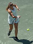 April 5,2018:  Daria Kasatkina (RUS) defeated Irina-Camelia Begu (ROu) 6-2, 6-1, at the Volvo Car Open being played at Family Circle Tennis Center in Charleston, South Carolina.  ©Leslie Billman/Tennisclix/CSM