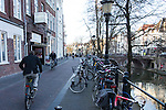 Our very 1st day in Netherlands, biker who took our picture_04275.