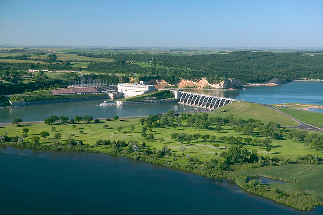 Gavins Point Dam on Missouri River