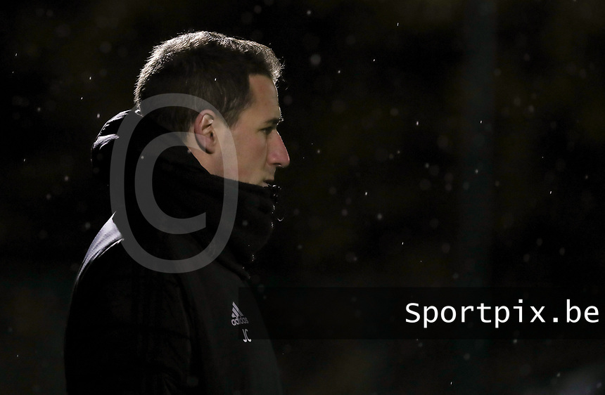 Head coach Jimmy Coenraets (OHL) during a female soccer game between Oud Heverlee Leuven and Sporting de Charleroi on the seventh matchday of the 2020 - 2021 season of Belgian Womens Super League , sunday 15 th of November 2020  in Heverlee , Belgium . PHOTO SPORTPIX.BE | SPP | SEVIL OKTEM