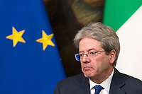 Italian Premier Paolo Gentiloni attends a joint press conference with French President at Chigi Palace in Rome, January 11, 2018.<br /> UPDATE IMAGES PRESS/Riccardo De Luca<br /> <br /> ITALY OUT