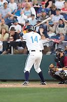 July 4, 2009: Everett AquaSox's Jose Rivero at-bat during a Northwest League game against the Yakima Bears at Everett Memorial Stadium in Everett, Washington.