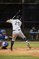 AZL White Sox first baseman Sam Abbott (25) at bat during an Arizona League game against the AZL Dodgers at Camelback Ranch on July 7, 2018 in Glendale, Arizona. The AZL Dodgers defeated the AZL White Sox by a score of 10-5. (Zachary Lucy/Four Seam Images)