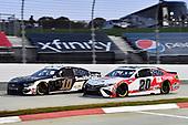 #10: Aric Almirola, Stewart-Haas Racing, Ford Mustang Smithfield Hometown Original, #20: Erik Jones, Joe Gibbs Racing, Toyota Camry Toyota Camry