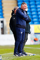 1st May 2021; Weston Homes Stadium, Peterborough, Cambridgeshire, England; English Football League One Football, Peterborough United versus Lincoln City; Peterborough United Manager Darren Ferguson grimaces as his side waste an opportunity