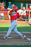 Jahmai Jones (15) of the Orem Owlz at bat against the Ogden Raptors in Pioneer League action at Lindquist Field on July 29, 2016 in Ogden, Utah. Orem defeated Ogden 8-5. (Stephen Smith/Four Seam Images)