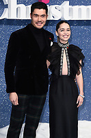 "LONDON, UK. November 11, 2019: Henry Golding and Emelia Clarke arriving for the ""Last Christmas"" premiere at the BFI Southbank, London.<br /> Picture: Steve Vas/Featureflash"