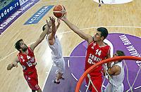 Milos Teodosic Zoran Erceg remote Srbija - Rusija prijateljska utakmica, Serbia - Russia friendly basketball game EUROBASKET 2015, 16.8.2015.<br /> 16. Avgust  2015. (credit image & photo: Pedja Milosavljevic / STARSPORT)