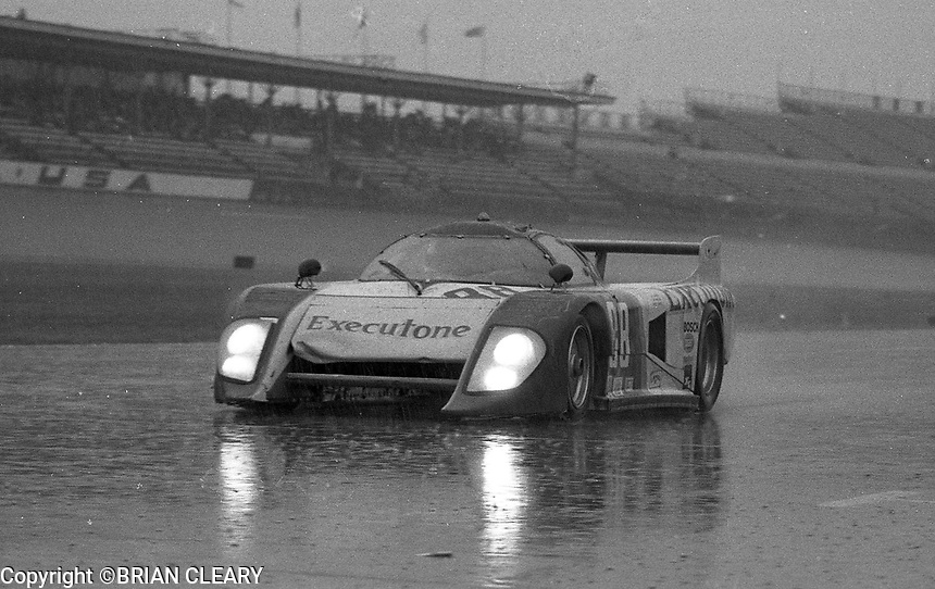 The #88 March Chevrolet 82G of Terry Wolters, Randy Lanier and Marty Hinze enters pit road in the rain during the 1983 24 Hours of Daytona , Daytona Internationa Speedway, Daytona Beach, FL, February 1-2, 1983.  (Photo by Brian Cleary / www.bcpix.com)