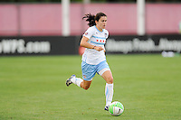 Karen Carney (14) of the Chicago Red Stars. The Chicago Red Stars defeated Sky Blue FC 2-1 during a Women's Professional Soccer (WPS) match at Yurcak Field in Piscataway, NJ, on August 01, 2010.