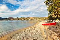 The beach of Marmari in Evia, Greece