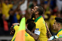 BELO HORIZONTE – BRASIL, 02-07-2019: Gabriel Jesus de Brasil celebra después de anotar el primer gol de su equipo durante partido por la semifinal de la Copa América Brasil 2019 entre Brasil y Argentina jugado en el Estadio Mineirão de Belo Horizonte, Brasil. / Gabriel Jesus of Brazil celebrates after scoring the first goal of his team during the Copa America Brazil 2019 semifinal match between Brazil and Argentina played at Mineirão stadium in Belo Horizonte, Brazill. Photos: VizzorImage / Cristian Alvarez / Cont /