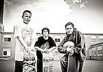 3 boys with skateboards