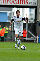 Saturday 19 October 2013 Pictured: Michu of Swansea makes a run with the ball <br /> Re: Barclays Premier League Swansea City vSunderland at the Liberty Stadium, Swansea, Wales