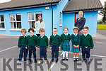 The seven new Juniors who started school on Monday at Aghatubrid NS pictured here with teachers Emma Treacy & Sinead O'Sullivan(Principal).