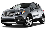 Low aggressive front three quarter view of a <br /> 2013 Buick Encore