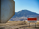 Roads and overburden piles, Cortez Gold Mine, Crescent Valley, Nevada