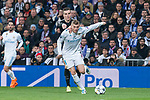Real Madrid Toni Kroos and PSG Giovani Lo Celso during Eight Finals Champions League match between Real Madrid and PSG at Santiago Bernabeu Stadium in Madrid , Spain. February 14, 2018. (ALTERPHOTOS/Borja B.Hojas)