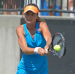 Daniela Hantuchova (SVK) defeats Teliana Pereira (BRA) 6-2, 6-3 at the Family Circle Cup in Charleston, South Carolina on April 3, 2014.
