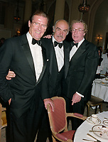 ARCHIVE: CANNES, FRANCE. c. May 1991: Roger Moore, Sean Connery & Michael Caine at the Cannes Film Festival.<br /> File photo © Paul Smith/Featureflash
