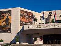 Nationaltheater in Novi Sad = Neusatz, Vojvodina, Serbien, Europa<br /> National theatre, Novi Sad, Vojvodina, Serbia, Europe