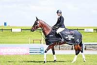 NZL-Virginia Thompson with Star Nouveau takes the Title for the second consecutive year; 2ND-NZL-Samantha Felton with Ricker Ridge Escada; 3RD-NZL-Donna Edwards-Smith with Mr Hokey Pokey, during the Honda New Zealand CCI3* Prizegiving (Final-1ST). 2016 NZL-Puhinui International 3 Day Event. Puhinui Reserve, Auckland. Sunday 11 December. Copyright Photo: Libby Law Photography
