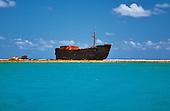 Epave de l'ever prosperity sur la barrière de corail