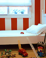 red and white child room