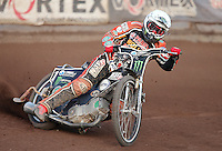 Tai Woffnden of Wolverhampton - Lakeside Hammers vs Wolverhampton Wolves, Elite League Speedway at the Arena Essex Raceway, Pufleet - 04/07/14 - MANDATORY CREDIT: Rob Newell/TGSPHOTO - Self billing applies where appropriate - 0845 094 6026 - contact@tgsphoto.co.uk - NO UNPAID USE