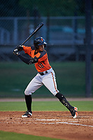 AZL Giants Orange Edison Mora (18) at bat during an Arizona League game against the AZL Dodgers Mota on June 29, 2019 at Camelback Ranch in Glendale, Arizona. The AZL Giants Orange defeated the AZL Dodgers Mota 9-3. (Zachary Lucy/Four Seam Images)
