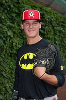 Cole Sands (10) of North Florida Christian High School in Tallahassee, Florida poses for a photo during practice before the Under Armour All-American Game on August 16, 2014 at Wrigley Field in Chicago, Illinois.  (Mike Janes/Four Seam Images)