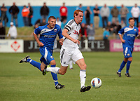 Pictured:  Shaun McDonald of Swansea (FRONT). Saturday 17 July 2011<br />