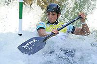 5th September 2021; Parc Olimpic del Segre, La Seu D'Urgell ICF Slalom World Cup, Women's Canoe Final;  Monica Doria Vilarrubla (AND)