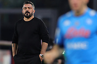 Gennaro Gattuso coach of SSC Napoli looks on during the Italy Cup football match between SSC Napoli and Empoli FC at stadio Diego Armando Maradona in Napoli (Italy), January 13, 2021. <br /> Photo Cesare Purini / Insidefoto