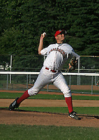July 13, 2003:  Pitcher David Humen of the Jamestown Jammers, Class-A affiliate of the Florida Marlins, during a NY-Penn League game at Russell Diethrick Park in Jamestown, NY.  Photo by:  Mike Janes/Four Seam Images