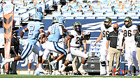CHAPEL HILL, NC - NOVEMBER 14: Christian Beal-Smith #26 of Wake Forest runs up the sideline with the ball during a game between Wake Forest and North Carolina at Kenan Memorial Stadium on November 14, 2020 in Chapel Hill, North Carolina.