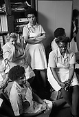Domestic workers occupy the adminstration offices of St.Mary's Hospital, Harrow Road in protest at the imposition of short-term contracts and the proposed closure of the hospital.