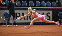 Februari 08, 2015, Apeldoorn, Omnisport, Fed Cup, Netherlands-Slovakia,  Anna Karolína Schmiedlová (SLO)<br /> Photo: Tennisimages/Henk Koster