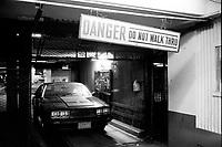 January ,1987 File Photo - New-York (NY) USA - Parking at night