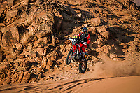 4th January 2021; Dakar Rally stage 2;  #01 Brabec Ricky (usa), Honda, Monster Energy Honda Team 2021, Motul, Moto, Bike, action during the 2nd stage of the Dakar 2021 between Bisha and Wadi Al Dawasir, in Saudi Arabia on January 4, 2021